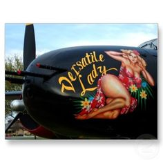WWII Nose Art Versatile Lady