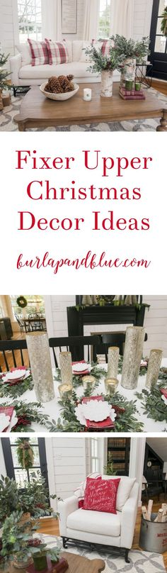 Love Fixer Upper? Love Christmas? This post is for you! Sharing some of my very favorite home decor Fixer Upper ideas for the holidays!