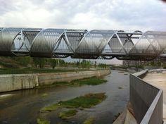 Puente Perrault en Madrid Rio Rio, Madrid, Urban Landscape, Cities, Scenery
