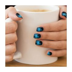 Blue Star shine Minx Nails Minx® Nail Art ($19) ❤ liked on Polyvore featuring beauty products, nail care, nail treatments and nails