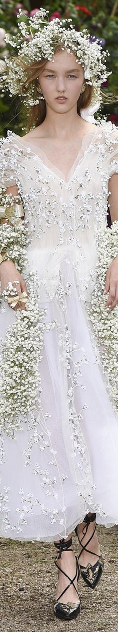 Spring Style!! Wedding Dress of Spring Herself! Rodarte 2017 Couture vogue.com