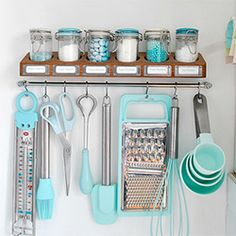 Baking utensils in tiffany blue - future kitchen