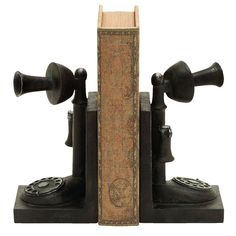 Telephone Bookend (Set of 2)