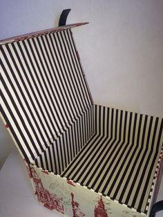 Maleta retangular vintage interna