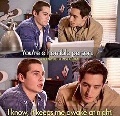 """me when somebody tells me that I'm a horrible person  """"I know it keeps me awake at night"""""""