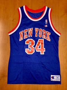 Vintage 1991 - 1994 Charles Oakley New York Knicks Champion Jersey Size 40  hat john starks shirt nba finals penny hardaway latrell sprewell 3d9cab404
