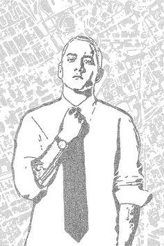 lyric poster, handmade, amazing #Eminem #lyrics #lyric #music #rap #gift #Christmas #poster