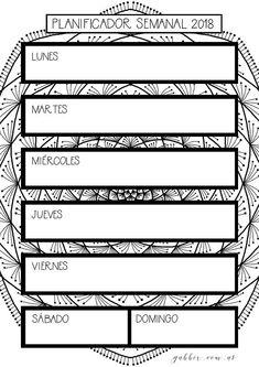 Agenda 2018 con Mandalas para Colorear y consignas de Journaling. Bullet journal imprimible. 30 páginas tamaño A4 en formato PDF para descarga inmediata. Está diseñada por mí para acompañarte a definir tu visión y para que te relajes y disfrutes coloreando mandalas. Mi misión es que tu *