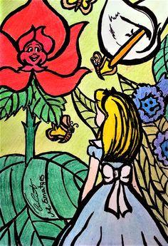 """Alice in the garden"" by Meri Esmatges."