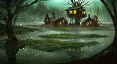 Explore the Fantasy - Landscapes and Scenery collection - the favourite images chosen by Inghi on DeviantArt. Fantasy Magic, Fantasy World, Environment Concept Art, Environment Design, Fantasy Concept Art, Fantasy Art, Mendoza, Illustration Fantasy, Fantasy Village