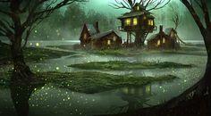 J'aime bien l'atmosphère fraîche des marais en pleine nuit ;-) | by Eddie Mendoza