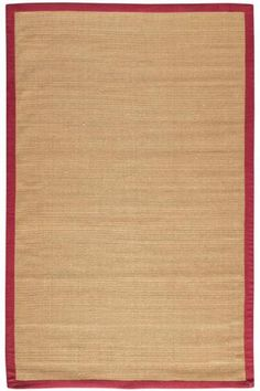 Washed Jute Area Rug - Natural Fibers Rugs - Rugs | HomeDecorators.com various sizes, black border $60
