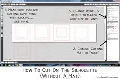 How to cut on the Silhouette {without a mat}... Or cut vinyl on the roll. {Tutorial} | The Creative MomThe Creative Mom