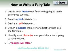 How to Write a Fairy Tale?