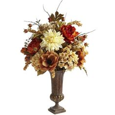 Pier 1 Imports Mixed Artificial Floral Arrangement (140 BAM) ❤ liked on Polyvore featuring home, home decor, floral decor, flowers, fillers, backgrounds, floral, flowers in vase, silk floral arrangement and flower centerpieces