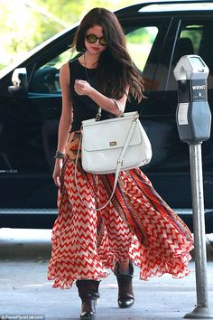 She's made it! Selena Gomez heads to the beauty salon on Tuesday, after Brad Pitt said he would like to work with her