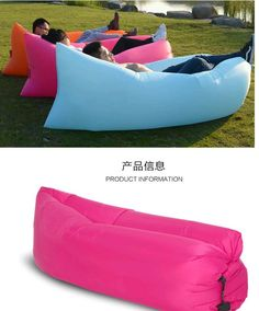 Air Lounger Fast Inflatable Air Bag Bed Sofa Couch Outdoor Beach Camping Hammock Lazy Chair Lounger Portable Waterproof Balloon Furniture Carry Floati