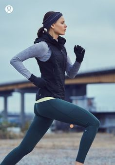 Outrun the conditions. lululemon the sweat life yoga fashion Fitness Outfits, Yoga Outfits, Cute Workout Outfits, Workout Attire, Workout Wear, Sport Outfits, Cute Outfits, Winter Workout Outfit, Running Outfits