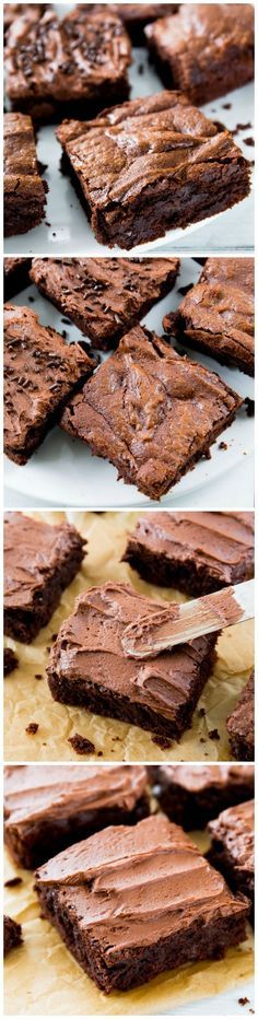 Thick, fudgy, chewy homemade brownies made completely from scratch. You will never make a box mix again!!