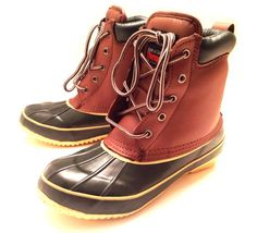 Womens Duck Boots Leather Thermolite Insulated Waterproof Hiking Winter Shoes | eBay