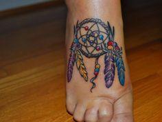 colorful, colors, cute tattoo, dream, dream catcher, dream catcher tattoo