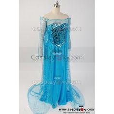 12acd25ee4b45 Frozen Snow Queen Elsa Fancy Dress Costume Cosplay---- Frozen Cosplay  Costume