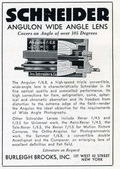 Schneider Angulon Wide Angle Lens 1937 by Nesster, via Flickr