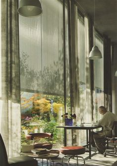 Amazing place to have your home  desk & workspace! Stunning Windows, etc.  Zumthor House designed by Peter Zumthor