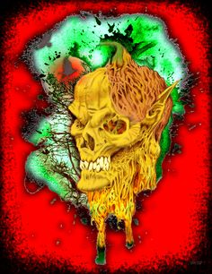 Bennett Klein - PumpkinHead Freebie Digital Colouring