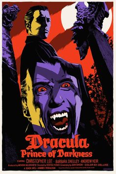 Classic Hammer Films Poster Art : Dracula Prince Of Darkness 1966 by Francesco Francavilla