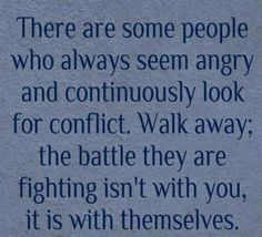 Battle with themselves...