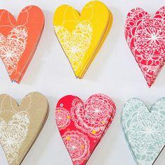 A6 Coloured Heart Multipack