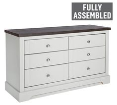 Buy Heart of House Westbury 6 Drawer Chest - Grey at Argos.co.uk - Your Online Shop for Chest of drawers, Bedroom furniture, Home and garden.