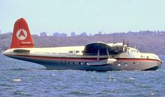 Ansett Short Sunderland 23 C Class Empire Flying Boat (VH-BRF) repainted in Delta livery 1970