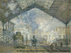 Claude Monet,La Gare Saint-Lazare, 1877   L'oeuvre d'art et la technique, source d'inspiration