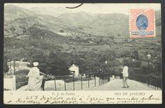 Antigo Cartão Postal Tipográfico: N. S. Da Penha - Rio de Janeiro. Circulado em 1906. MBC.
