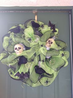 Large Ornate Halloween Wreath by BizzyCreations on Etsy, $60.00