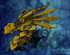 Gosia Firewarrior Stopinska - steampunk dragon