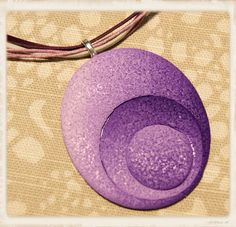 Riipus, lila ovali  - Polymerclay by KVJ