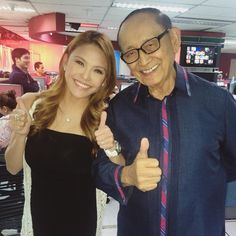 Fun times with former Philippine president Fidel V. Ramos! What a character!  I got star struck when he said he watches me do the weather on ANC  Will post our funny #TaraGrets video clip too! ✌️#FVR