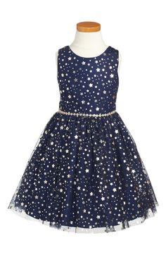 47d94c580 Main Image - Pippa & Julie Metallic Stars Party Dress (Toddler Girls,  Little Girls