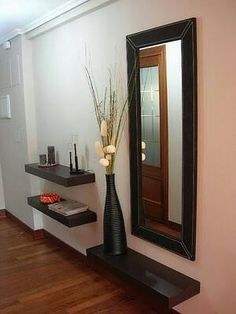 Mirror floating shelves