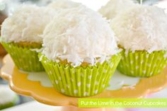 "The Coconut"" Cupcakes."