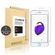 [2-Pack] iPhone 7 Plus Screen Protector iTURBOS iPhone 7 Plus Tempered Glass Screen Protector 9H Hardness Anti-Scratch Anti-Fingerprint.