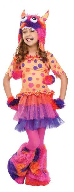 Orange Monster Costume - Kids Costumes