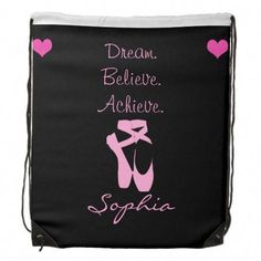 Dance Drawstring Backpack created by Godsblossom. White Ballet Flats, Pink Ballet Shoes, Ballet Bag, Hip Hop Outfits, Dance Outfits, Black Rope, Back To Black, Ballet Stretches, Tutu Skirt Women