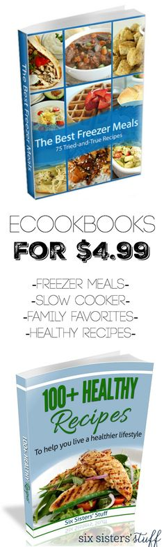75 of our all-time favorite freezer meals, along with frequently asked questions and tips and tricks to freezer meals a breeze!  Plus, Quick, easy, and healthy recipes to jump start a healthier lifestyle! While we don't claim to be health or fitness experts, we do know the importance of a well-balanced dinner made at home. No preservatives, no deep-frying, and no drive thru – but still quick, tasty, kid-friendly food!