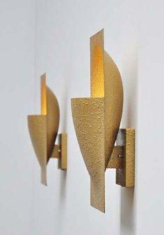 Bertrand Balas; Lacquered Aluminum Wall Lights for Raak, 1975.