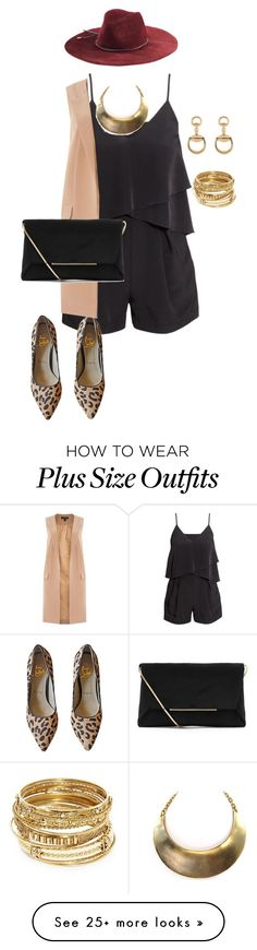 """""""plus nighttime  chic"""" by kristie-payne on Polyvore featuring H&M, Emilio Pucci, Christian Louboutin, ABS by Allen Schwartz, Lipsy, Gucci and Lanvin"""