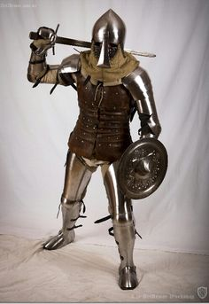 14th century knight. Man at arms.